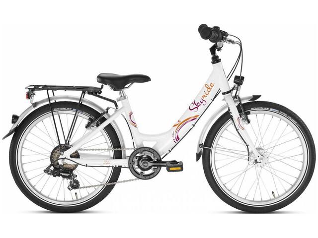 "Puky Skyride 20"" - Vélo enfant - 6 vitesses rose/blanc"